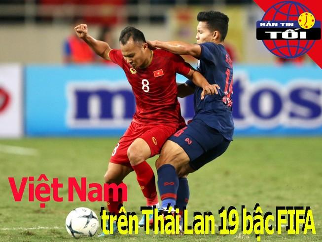 Việt Nam xếp trên Thái Lan 19 bậc FIFA; Điềm gở của Nishino