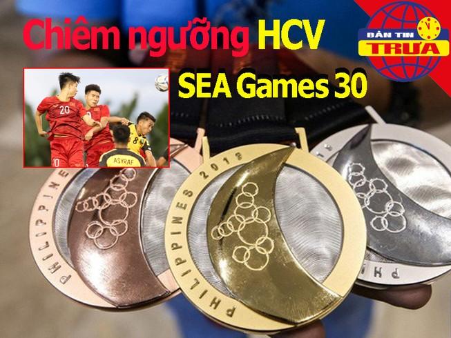 Chiêm ngưỡng HCV SEA Games 30; Trọng Hùng vào tổ 'thương binh'