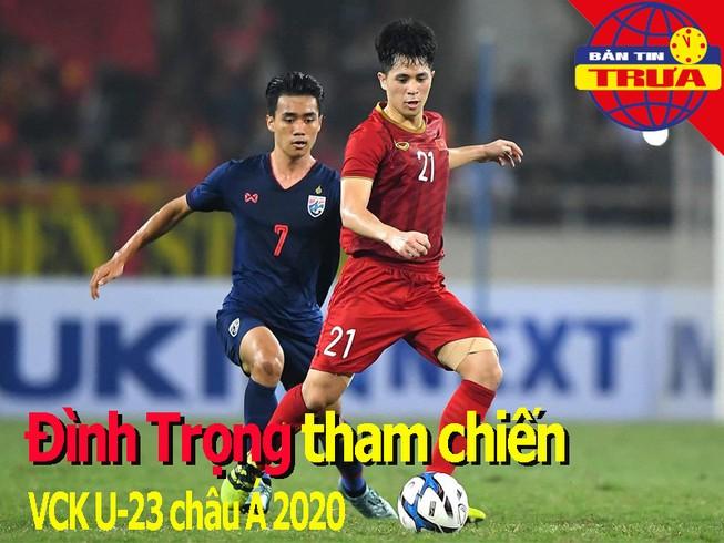 Đình Trọng trở lại, Văn Hậu không dự VCK U-23 châu Á 2020