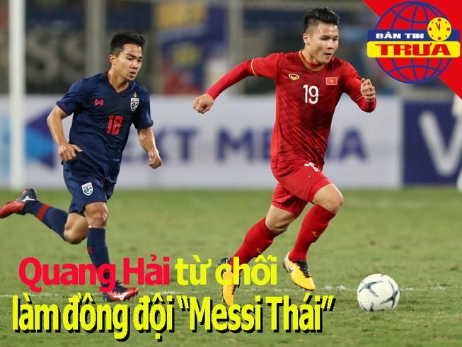 Quang Hải từ chối sang Nhật Bản; Chanathip cổ vũ U-23 Thái Lan