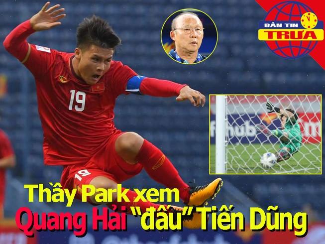 Thầy Park xem Quang Hải đấu Bùi Tiến Dũng, Federer bị phạt
