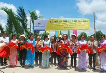 Nam A Bank tài trợ xây cầu Cán Gáo tại Kiên Giang