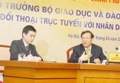 Bộ trưởng Phạm Vũ Luận: Sẽ lắng nghe ý kiến học sinh khi đổi SGK