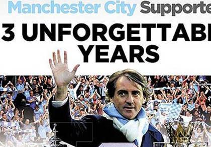 Bị Man City tống khứ, Mancini vẫn gửi lời cảm ơn cổ động viên