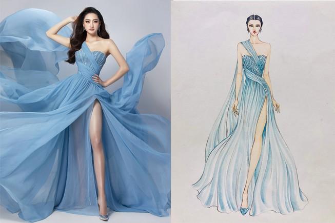 Chiếc đầm Lương Thùy Linh sẽ mặc trong phần thi Top Model