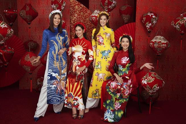 Dàn người đẹp Hoa hậu Hoàn vũ rạng ngời trong bộ ảnh Tết
