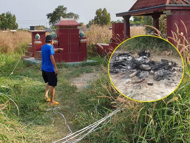 Thông tin mới vụ đốt xương người trong nghĩa địa ở Củ Chi