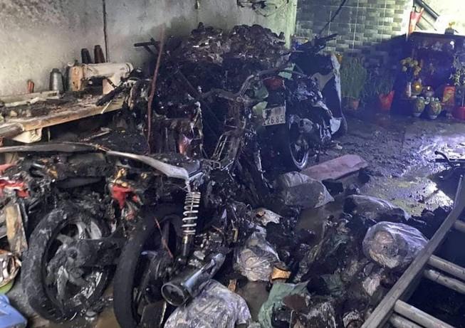 Vụ cháy nhà xảy ra vào rạng sáng mùng 1 Tết trên địa bàn thành phố, không có thiệt hại về người- Ảnh: Tin Tức