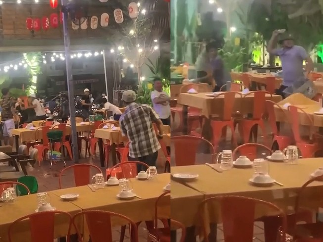 Hỗn chiến như phim tại quán nhậu ở quận Tân Phú