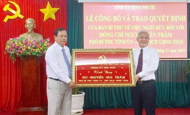 Chủ tịch UBND tỉnh Bình Phước nghỉ hưu