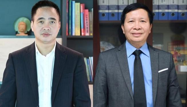 Phó Tổng Giám đốc VOV Phạm Mạnh Hùng (bên trái) và Vũ  Hải Quang. Ảnh: VGP