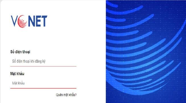 Giao diện trang thi https://vcnet.vn