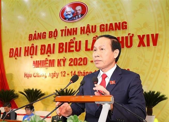 Bí thư Tỉnh ủy Hậu Giang Lê Tiến Châu. Ảnh: TTXVN