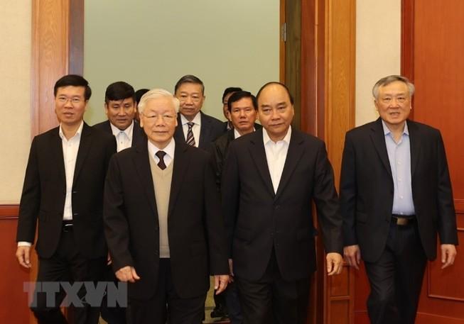 Bộ Chính trị gặp mặt các nguyên ủy viên không tái cử khóa XIII