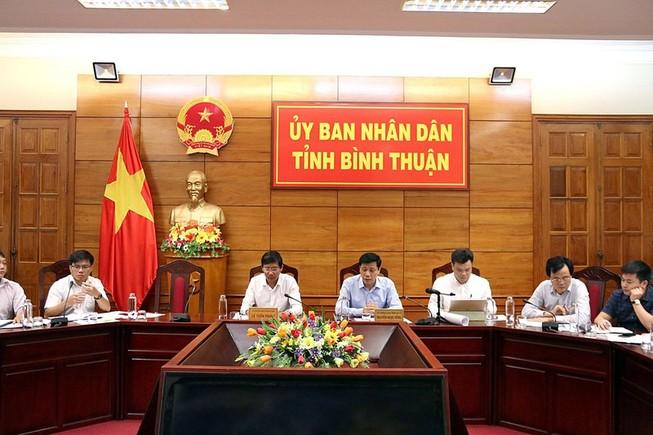 Cuộc họp về đầu tư giao thông tại UBND tỉnh Bình Thuận