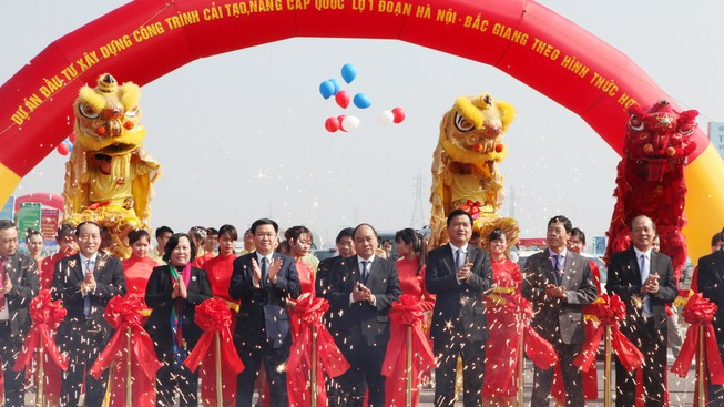Thông xe dự án quốc lộ 1 Hà Nội - Bắc Giang 4.213 tỉ