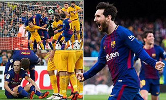 Messi ra chân thiên tài, Barcelona tiến gần ngôi vương