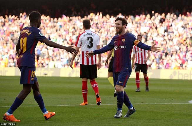 Messi lại tỏa sáng, Barcelona băng băng về đích