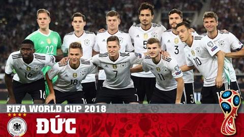 Đức - Ứng viên số một cho chức vô địch World Cup 2018