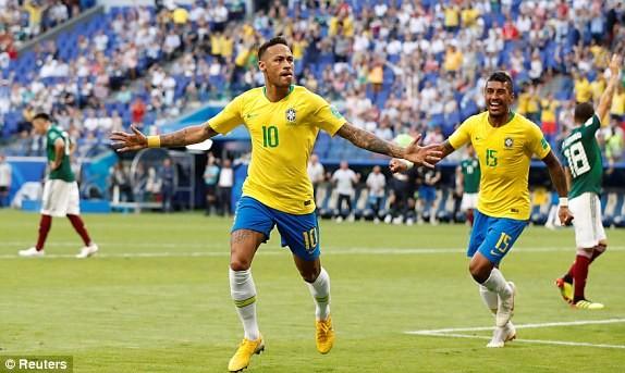 Neymar rực sáng, Brazil khiến Mexico 'ôm hận' 7 lần liên tiếp