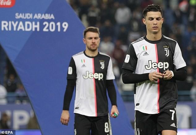 Ronaldo dỗi hờn vì Juventus bị Lazio 'cướp' siêu cúp nước Ý