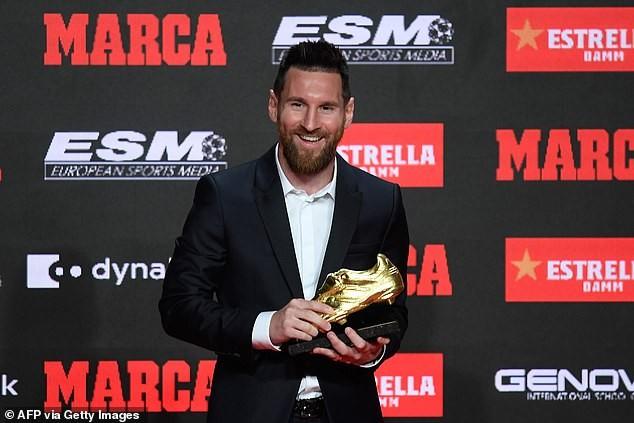Messi đứng trước nguy cơ mất danh hiệu chiếc giày vàng châu Âu