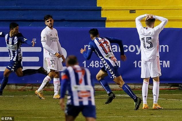 Real Madrid gây thất vọng lớn. ẢNH: EPA
