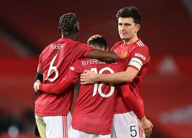 Maguire, Bruno Fernandes và Pogba đều có tầm ảnh hưởng lớn trên cỏ với MU. ẢNH: GETTY