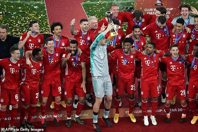 Bayern Munich vừa vô địch FIFA Club World Cup để hoàn tấn cú ăn 6 lịch sử. ẢNH: GETTY
