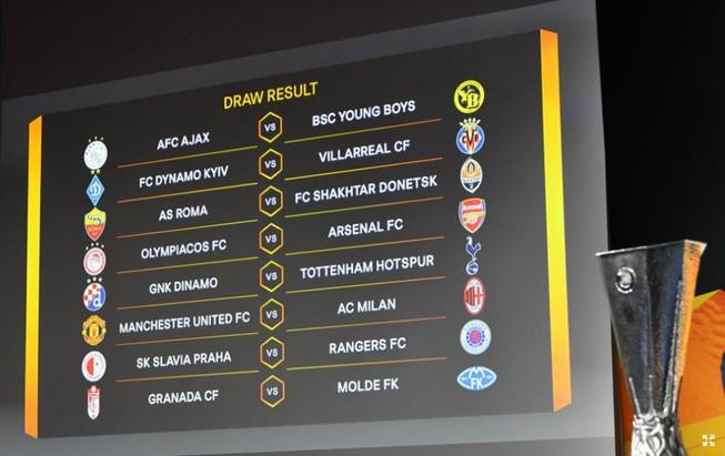 Kết quả bốc thăm vòng 1/8 Europa League. ẢNH: UEFA