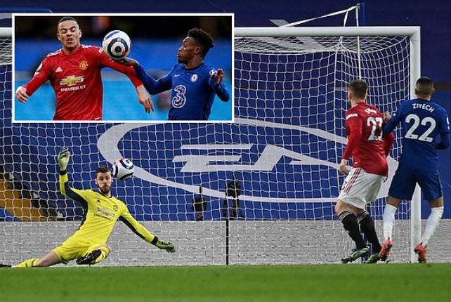 MU và Chelsea cầm chân nhau trong trận hòa không bàn thắng. ẢNH: DAILY MAIL