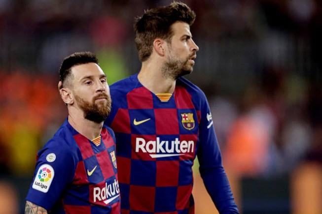 Messi và Pique được cho là bị bôi nhọ danh dự trong chiến dịch truyền thông mạng xã hội của Bartomeu. ẢNH: GETTY
