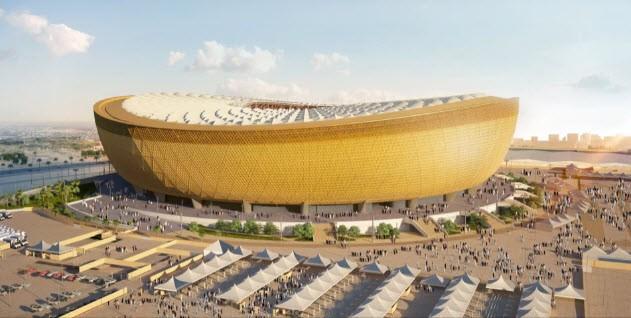 Toàn cảnh sân vận động Lusail  có sức chứa 80.000 chỗ ngồi. ẢNH: REUTERS