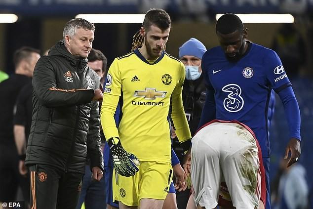 De Gea vắng mặt trong đội hình MU trong trận hòa Crystal Palace. ẢNH: EPA