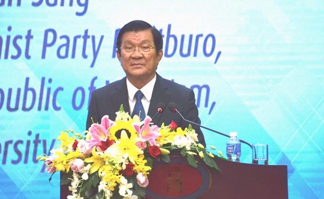 Ông Trương Tấn Sang nói về vấn đề giáo dục đại học