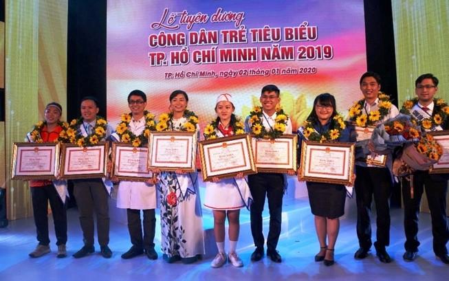 Vinh danh 12 gương công dân trẻ tiêu biểu TP.HCM năm 2019