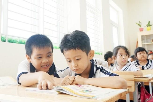 Học sinh lớp 1 trường Tiểu học Hồng Đức, quận 8