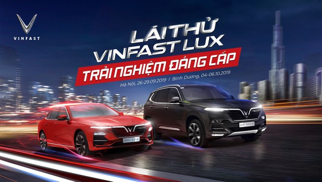 VinFast tổ chức lái thử xe Lux cùng chuyên gia quốc tế