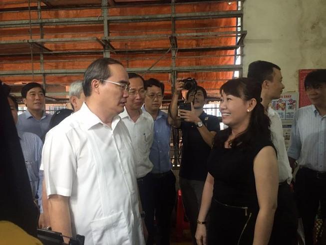 Bí thư Nguyễn Thiện Nhân thị sát chợ An Đông