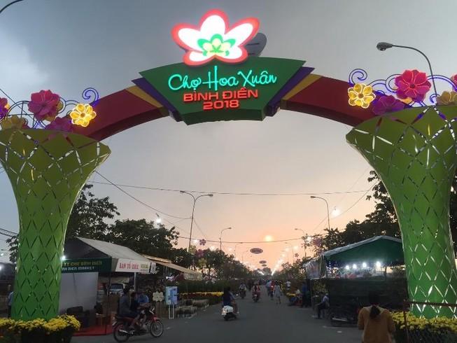 Chợ Bình Điền khai mạc Chợ hoa xuân 2018