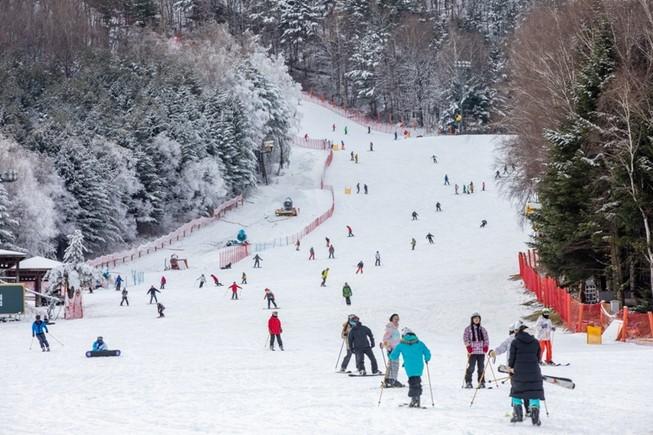 Người Việt sang Hàn Quốc trượt tuyết dưới cái lạnh -20 độ C