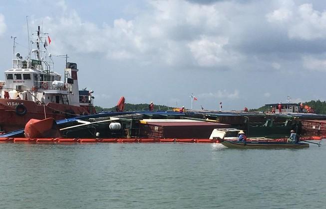Thông luồng tạm hàng hải tại nơi chìm tàu 8.000 tấn ở Cần Giờ