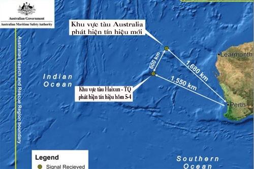 Tàu Australia hai lần bắt được tín hiệu trùng với hộp đen máy bay