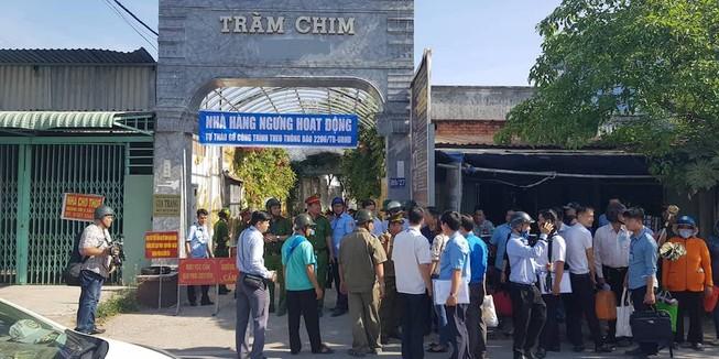 Bắt đầu cưỡng chế Gia Trang quán Tràm Chim Resort