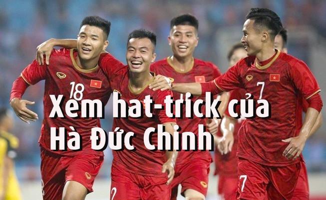 Xem hat trick đầu tiên SEA Games 30 của Hà Đức Chinh
