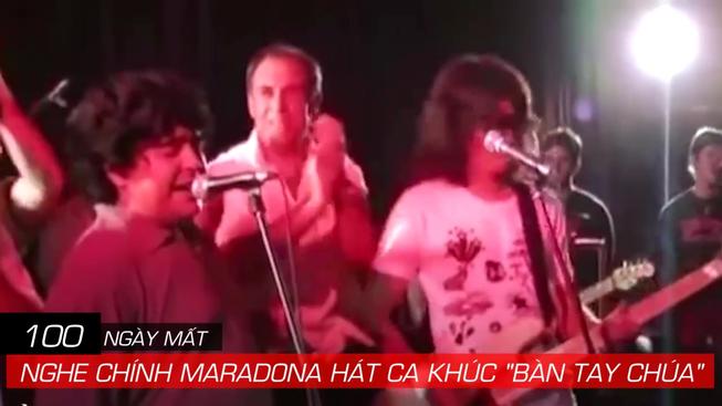 100 ngày mất của Maradona, nghe ông hát  'Bàn tay của Chúa'