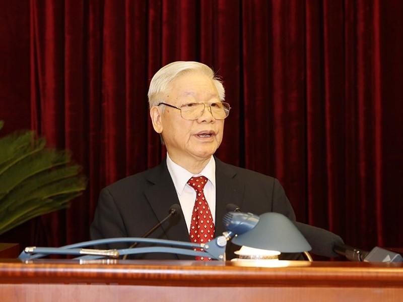 Chùm ảnh lãnh đạo Đảng, Nhà nước tại Hội nghị Trung ương 14 - ảnh 1