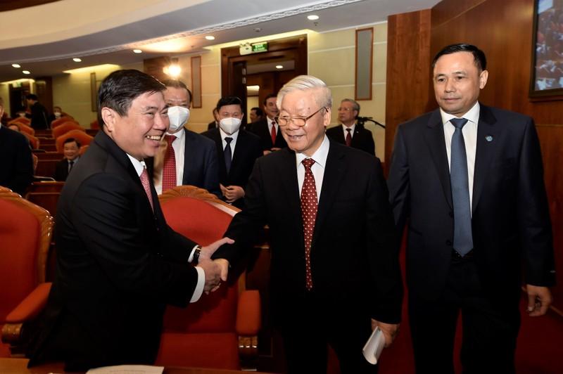 Chùm ảnh lãnh đạo Đảng, Nhà nước tại Hội nghị Trung ương 14 - ảnh 12