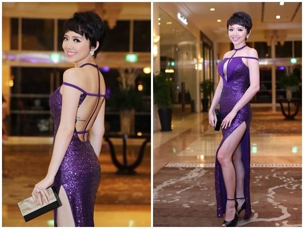 15 mẫu váy sexy bậc nhất trên thảm đỏ Vbiz năm 2014 - ảnh 6