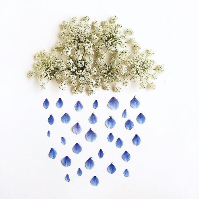 Người phụ nữ biến những cánh hoa thành tranh nghệ thuật - ảnh 1